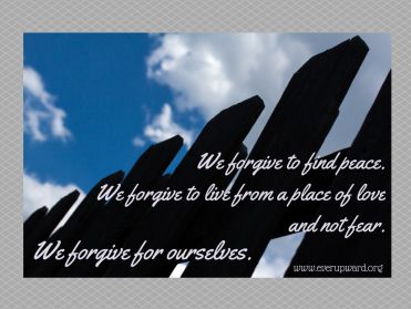 We forgive for ourselves