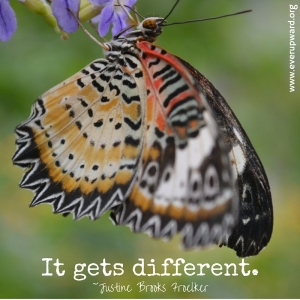 It gets different.