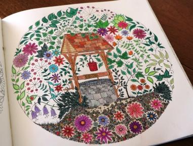My version of Johanna Basford's Secret Garden adult coloring book.
